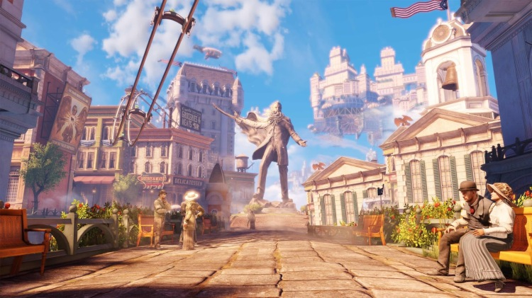 Bioshock Infinite's city of Columbia. Screenshot from www.playstation.com