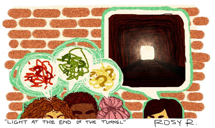 """""""Light at the End of the Tunnel"""" by Rosy Roberts"""