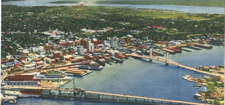 Arial view of old Jacksonville  Photo by: www.visitjacksonville.com
